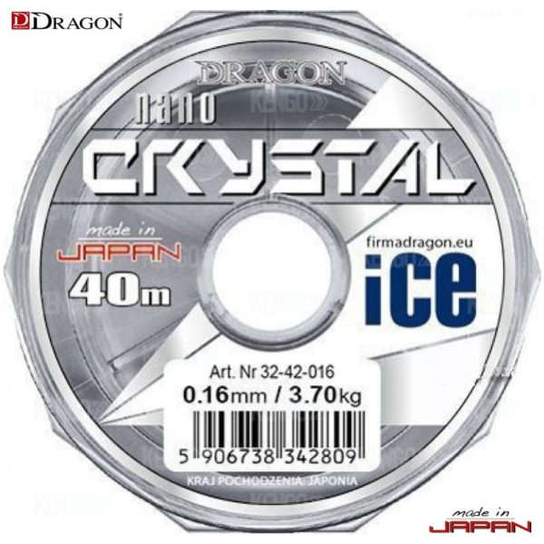 зимняя леска dragon nano crystal ice