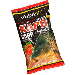 прикормка vabik special карп (клубника)